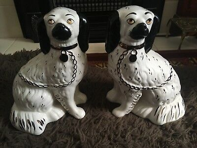 Antique - Victorian - pair of Staffordshire dogs