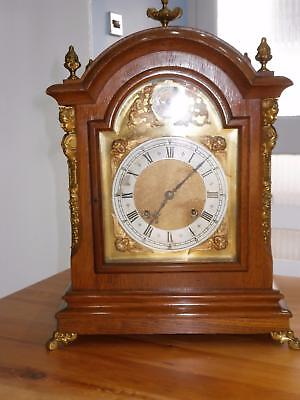 Golden Oak Ting Tang Bracket Clock by MB Serviced & Overhauled