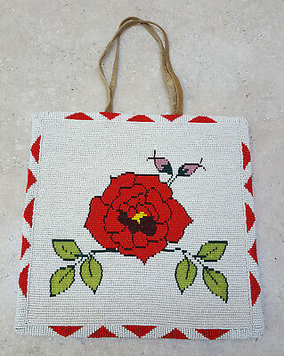 Nice Hand Crafted Rose Design Beaded Native American Indian Purse/bag!!