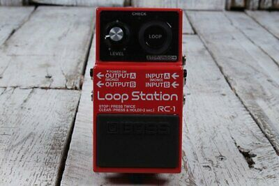 Boss RC-1 Loop Station Electric Guitar Effects Pedal Looper with FREE Cables