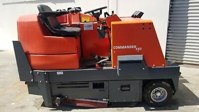 "PowerBoss Commander C82 Ride On Sweeper / Scrubber - 42"", Gas, Over 40k New"