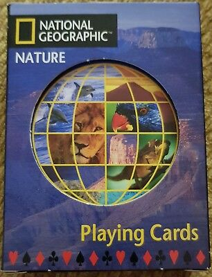 NATIONAL GEOGRAPHIC Playing Cards - 'Nature', Travel, Stocking Filler, game. NEW