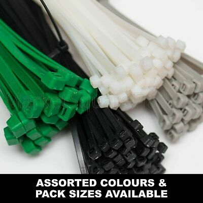 Cable Ties - Tie Wraps, Nylon Zip Ties Long Strong Small Good Quality Pack Sizes