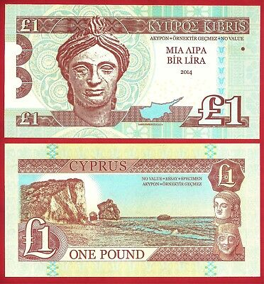 Cyprus - £1 Privately Issued Test Specimen Banknote, Top Security Features. UNC.
