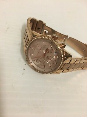 a94e406ff60d Michael Kors Womens Chronograph Ritz Rose Gold Stainless Steel Watch MK6357   250
