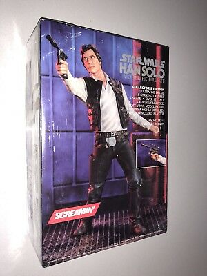 Rare Vintage Brand New In Box Star Wars Han Solo Screamin Model Kit 1/4 Scale