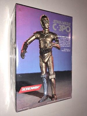 Rare Vintage Brand New In Box Star Wars C-3PO Screamin Vinyl Model Kit 1/4 Scale