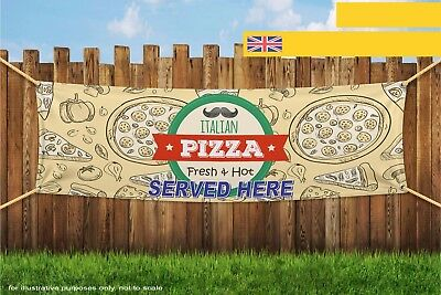 Italian Pizza Fresh Hot Served Here Heavy Duty PVC Banner Sign 3775