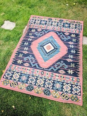 Large Vintage Turkish Kilim Rug
