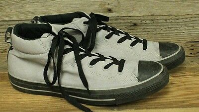 Converse Chuck Taylor All Star Mens Grey Canvas High Top Sneakers/shoes Sz 13