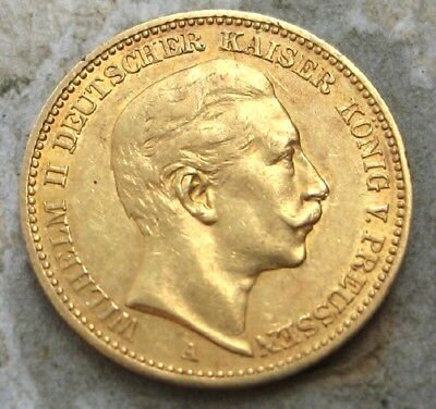 1895-A  Germany (German States) 20 Mark Gold Coin