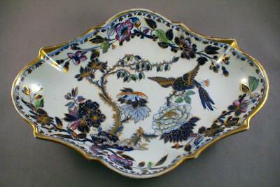 BEAUTIFUL ANTIQUE DAVENPORT BLUE MANDALAY OVAL SCROLLED SERVING DISH c.1840's