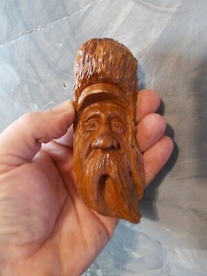 Mini Wood Carving, Wood Spirit, Tree Spirit, Gnome, Wizard, Mountain Man #2