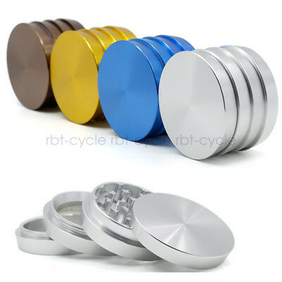 4 Layer Aluminum Alloy Herb Spice Mill Crusher Tobacco Smoke Grinder Wave Level