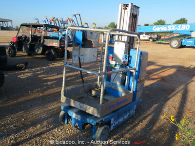 2011 Genie GR20 20' Electric Mast Lift Personnel Manlift Aerial -Parts/Repair