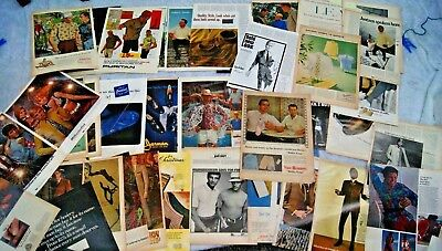 Lot of 60+ 1950's - 1960's Men's Fashion Advertisements Vintage Ads Jantzen Pur