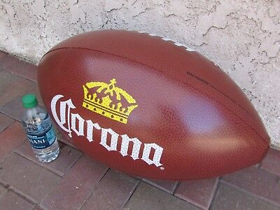 NEW Corona Extra Brown Football Inflatable Beer Blow up Bar Beach Ball Man Cave