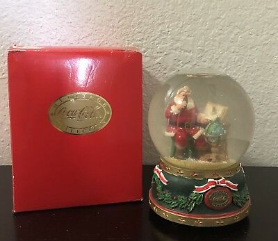 "Coca-cola Heritage Collection '94~""Good Boys And Girls""~Santa snowglobe/music"