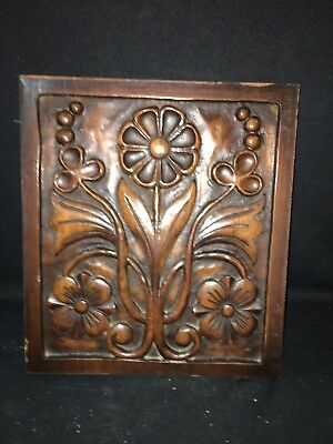 "1920's 12 1/8"" Carved Wood Panel Pediment"