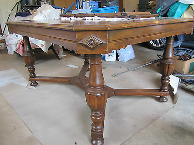 Antique Vintage Dining Table And Chairs