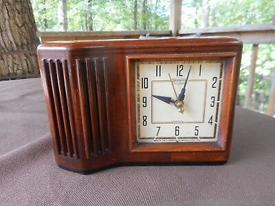 Vintage Ingraham Self Starting Electric Clock Model SSD8 for Parts or Repair