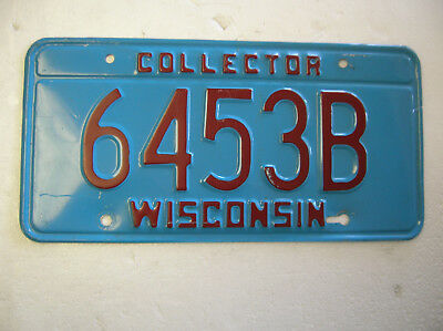 One 1990's-early 2000's Wisconsin Collector (car) license plate.Pretty decent.