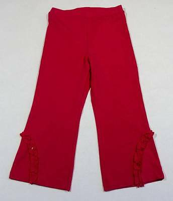 THE CHILDREN/'S PLACE RED VELOUR RUFFLE PANTS NWT 3-6 M