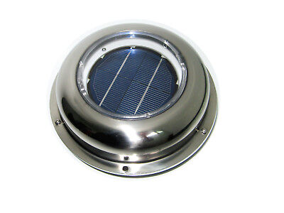 Solar Powered Vent Fan Exhaust Ventilation Stainless Steel for Roof,Attic RV Van
