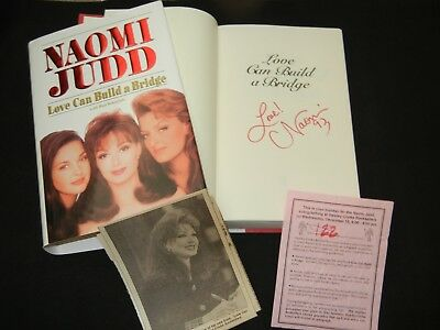 "NAOMI JUDD Signed Autograph ""LOVE CAN BUILD A BRIDGE"" Book THE JUDDS 1st. Ed."