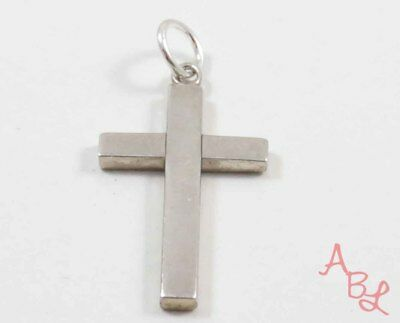 Sterling Silver Vintage 925 Religious Cross Charm Pendant (2.2g) - 739248