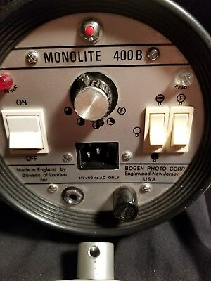 BOGEN~400B~Photography MONOLITE, Made ~England by Bowens of London & power cord