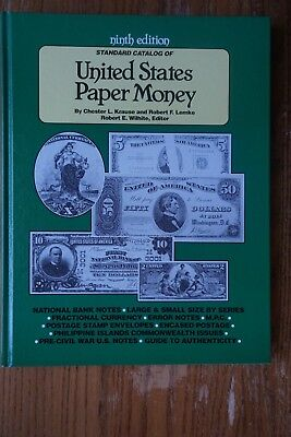 1990 Hard Copy 9th Edition United States Paper Money