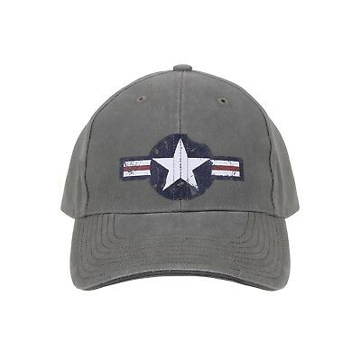 US Air Force Vintage Ball Cap USAAF Hat Army Air Corps USAF Retro Vet OD Green