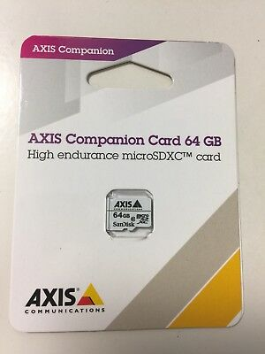 Axis Companion Card 64GB. MicroSDXC Card. New