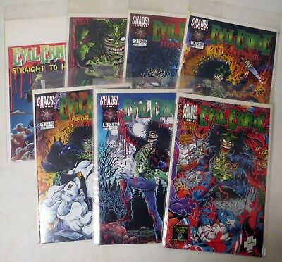 Vintage 1990s COMIC LOT #14 (7) Evil Ernie STRAIGHT TO HELL & more!