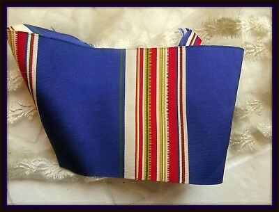 Gorgeous Antique French Silk Striped Ribbon Trim Sample Collector