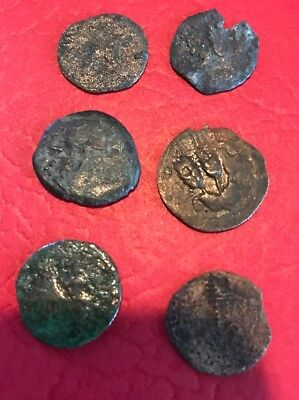 King Agrippa Prutah Jerusalem Biblical Coins Lot Of 6 Hendin 1244