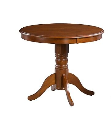 """36"""" Round Dining Table In Black Cherry Finish"""