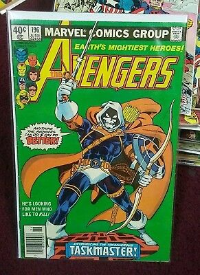 The Avengers #196 Jun 1980, Marvel Key 1st Taskmaster key comic 1980s rare