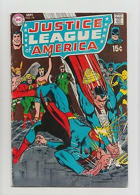Justice League of America #74 Neal Adams Cover (DC 1969) FN- 5.5