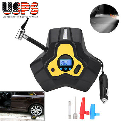 Portable Digital Tire Inflator DC 12V 120W Car Electric LED Air Compressor Pump