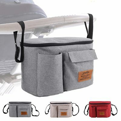 Baby Stroller Organizer and Thermal Bags for Mum Travel Hanging Carriage Pram
