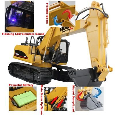 RC Truck 15 Channels Bulldozer Tractor Remote Control Trucks Kids Toy Digger Car