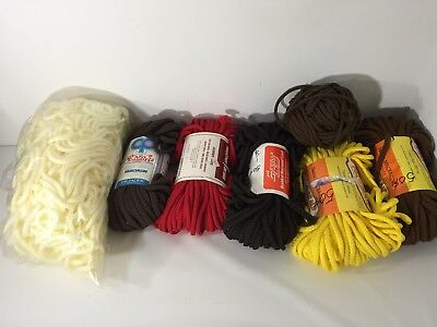 LOT of  7 Skeins Braided Macrame Craft Cord Vintage USA