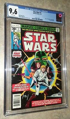 Star Wars #1 CGC 9.6 White Pages 1st Print FREE SHIPPING Marvel 1977