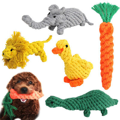 Cute Dog Chew Toys Braided Rope Pet Puppy Teeth Cleaning Bite Training Toys