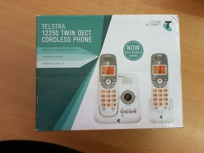 New Telstra 12250 Twin Dect 6.0 Cordless Phone
