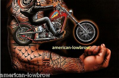 Dave David Mann Biker Art Motorcycle Poster Print Easyriders Power to the Putt