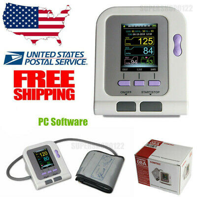 USA FDA Color CONTEC08A Digital Blood Pressure Monitor Upper Arm NIBP Software