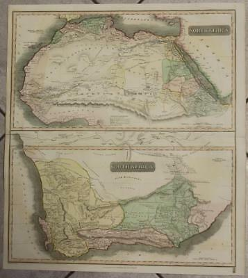 North Afica & South Africa 1815 Thomson Large Antique Copper Engraved Map